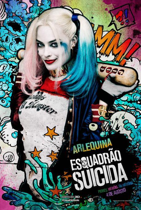 Esquadrao Suicida - Comic Book Character Art_Arlequina