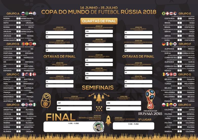 Tabela da Copa 2018 para Imprimir - Azul - Português-BR-med