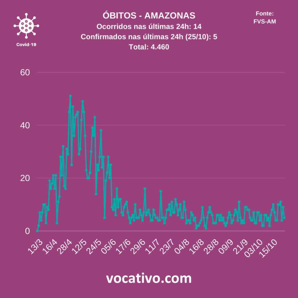 Amazonas registra 344 casos de Covid-19 nesta segunda-feira (26/10) 3